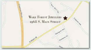 Get Directions to Wake Forest Jewelers.  Click here to get directions...