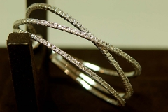14k WG Diamond Bangle