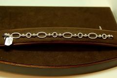 14k WG Diamond Link Bracelet