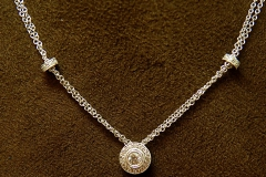 14k WG Diamond Wheel Necklace
