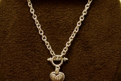 14k WG Diamond Heart Toggle