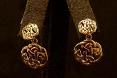 14k YG Celtic Style Earrings