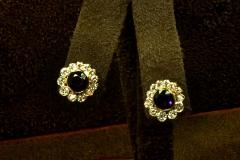 18k YG Amethyst & Diamond Earrings