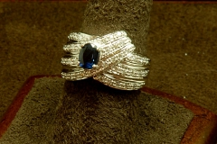 14k WG Sapphire & Diamond Ring
