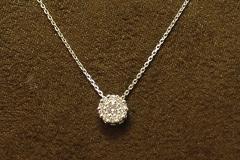 14k WG Diamond Cluster Pendant