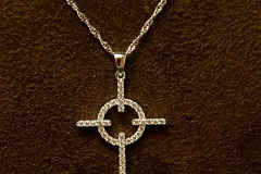14k WG Diamond Cross