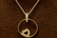 14k WG Diamond Heart Necklace