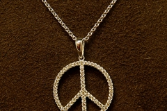 14k WG Diamond Peace Sign