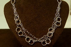 14k WG Fashion Circle Necklace