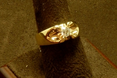 14k YG Men's Diamond Ring 0.33 Sol.