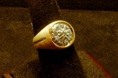 14k YG Ring 0.75 TDW