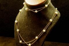 """14k YG Pearl 18"""" Bracelet & 7"""" Necklace"""