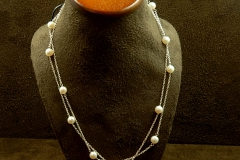 """14k WG 18"""" Pearl Necklace"""