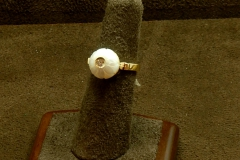 14k Dia/Flower Pearl Ring Galatea