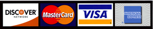 We accept Major Credit Cards