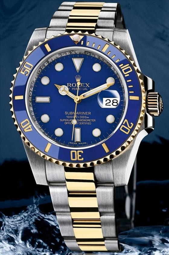 Rolex Submariner - Blue and Gold